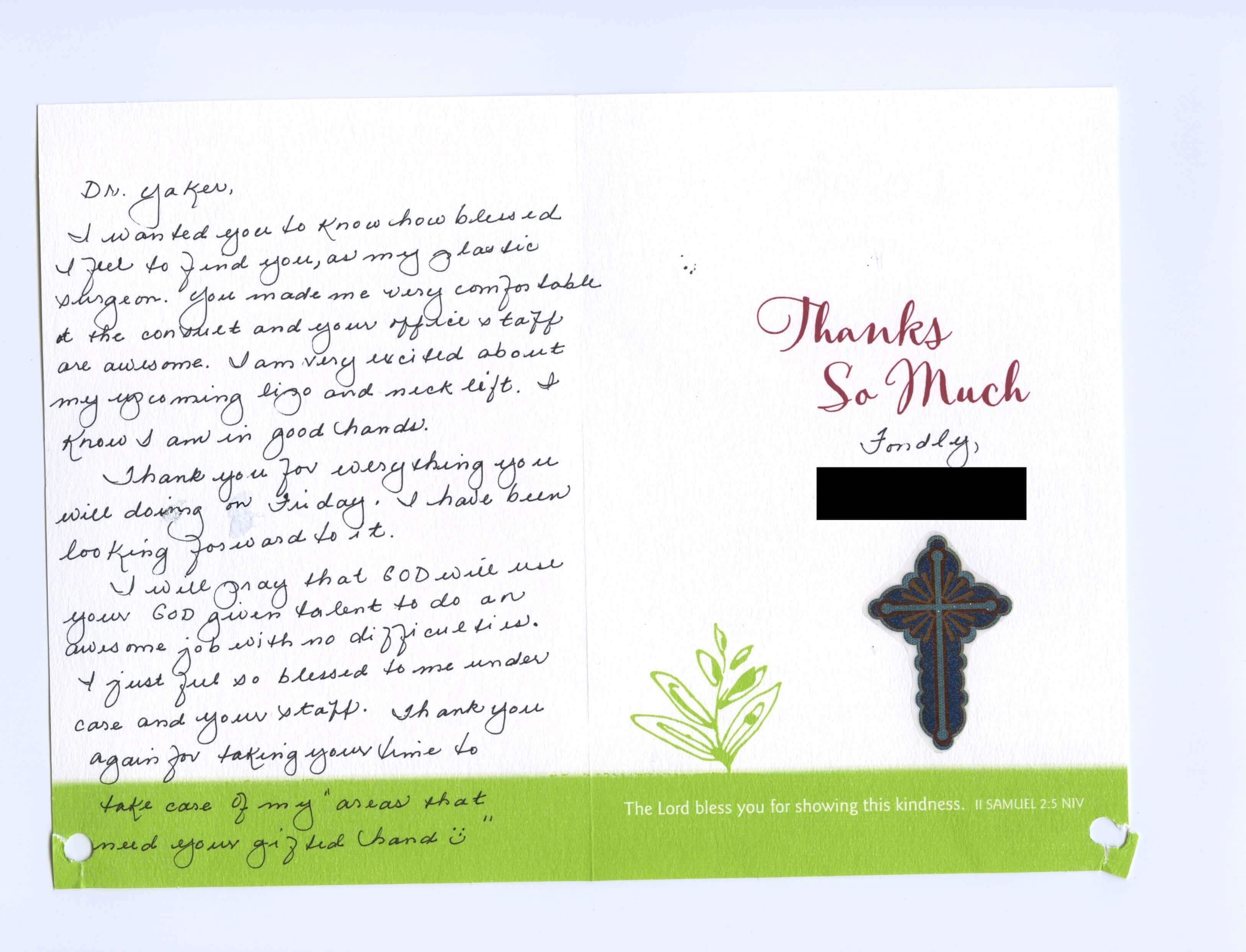 Dr. Yaker Thank You Card 16