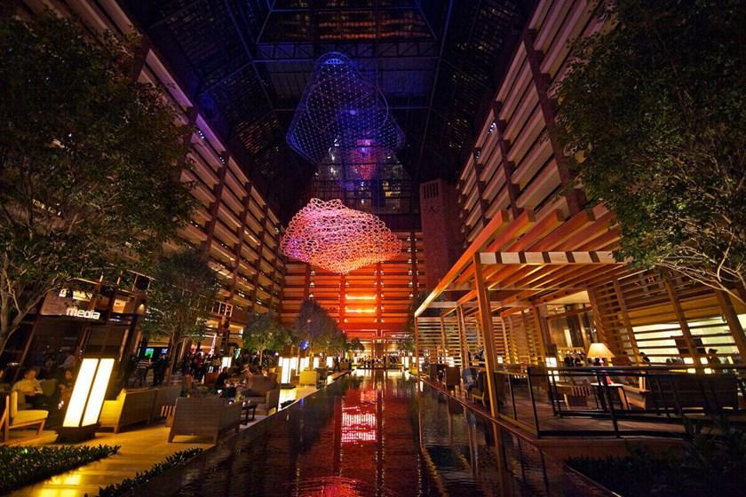Hilton Anatole Atrium At Night